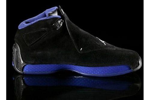 Nike Air Jordan 18 (black suede / royal blue)