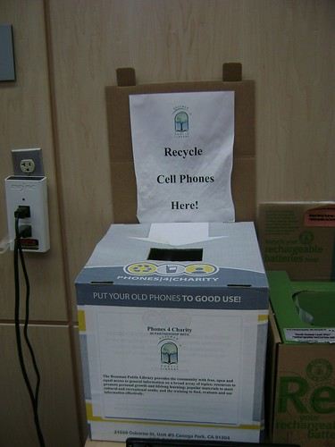 Cell phone recycle bin
