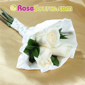 White roses Petite Hand Tied