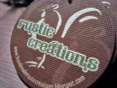 rustic creations - hang tags