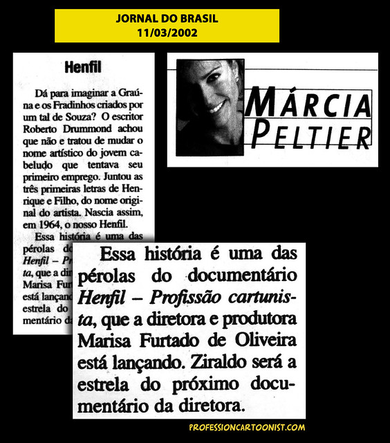 """Henfil"" - Jornal do Brasil - 11/03/2002"