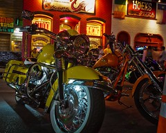 ROT Rally 2011 - Yellow Harley (dingatx) Tags: rot yellow tattoo austin texas rally piercing harley parlor