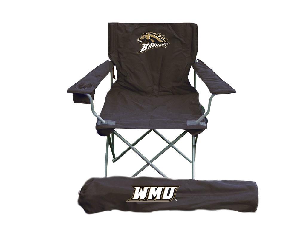 western michigan tailgate folding camping chair