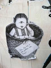 your problem now (ruminatrix) Tags: baby pasteup wheatpaste marais lemarais streetartparis yourproblemnow poleka