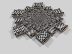 Chess Vertigo (fdecomite) Tags: game spiral infinity chess math doyle chessboard povray infini