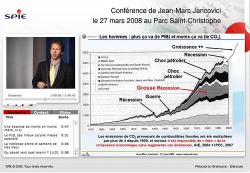 Jean-Marc Jancovici: 'Plus ça va (le PIB) moins ça va (le CO2)'