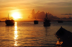 Arrgh Matey (red_dotdesign) Tags: ocean sunset clouds evening venezuela ships pirate abigfave rubyphotographer
