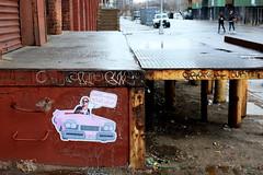on the road again (Luna Park) Tags: nyc streetart ny newyork brooklyn wheatpaste williamsburg lunapark grater curtis billikid billikidbrand