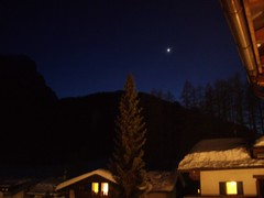 Glow from the hotel (Leonard_of_Quirm) Tags: winter italy snow landscape scenery skiing vista mountians dolomites dolomiti sesto sexten