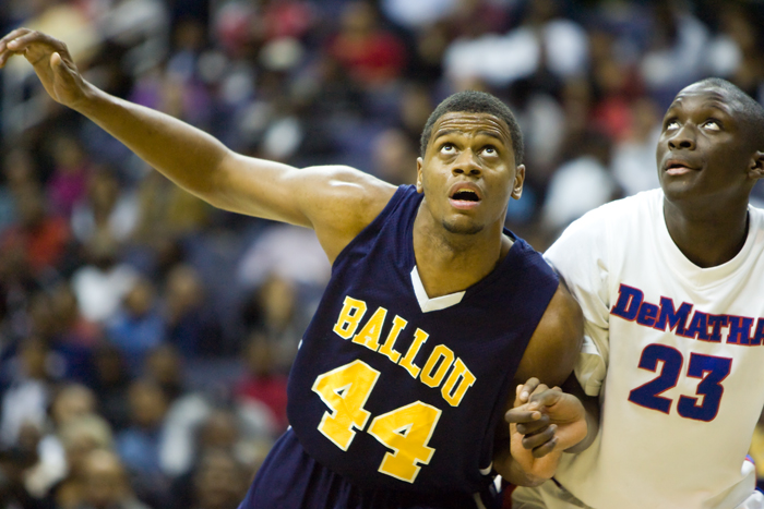Ballou DeMatha boys high school basketball washington dc verizon center city title championship Marquis Gentry Victor