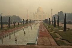 Taj Mahal in a winter morning mist