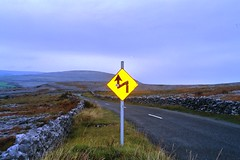 Eire Road Sign in the Burren (Dadu1207) Tags: ireland eire roadsign burren karstlandscape