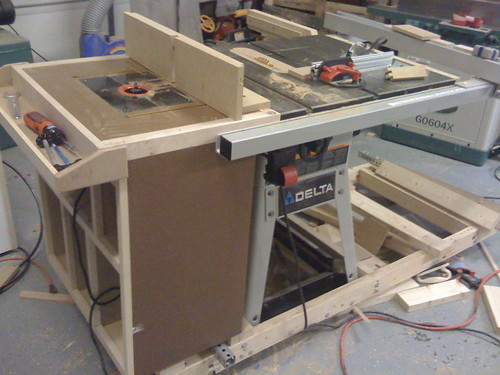 Front of the table saw