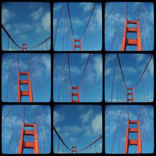 """Golden Gate Bridge x9"" by Area Bridges on flickr"