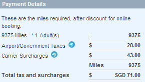 Singapore Airlines cheap airfare