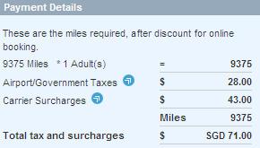 Singapore Airlines cheap airfare