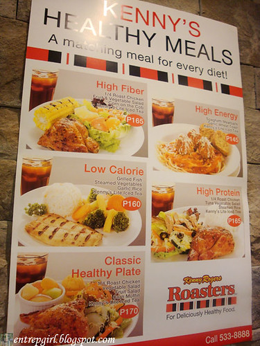 Kenny Rogers healthy meals poster