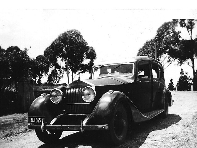 Rolls Royce  in Castlemaine c1957