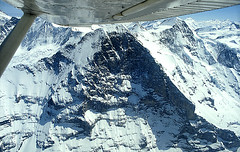 Eiger nordwand dall'aereo
