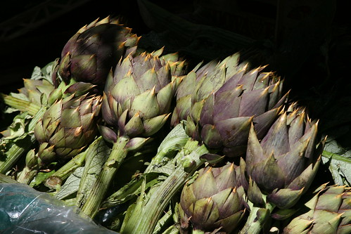 Artichokes in the Capo Market, Palermo