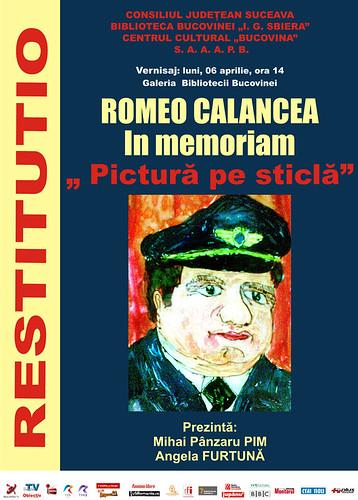 06 Aprilie 2009 » Romeo Calancea - In memoriam, Pictură pe sticlă
