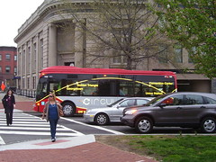 The Union Station-Navy Yard DC Circulator uses 30 foot buses