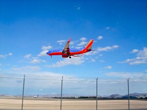 Aircraft landing in McCarran