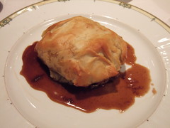 Phyllo stuffed with lamb at Mourayo