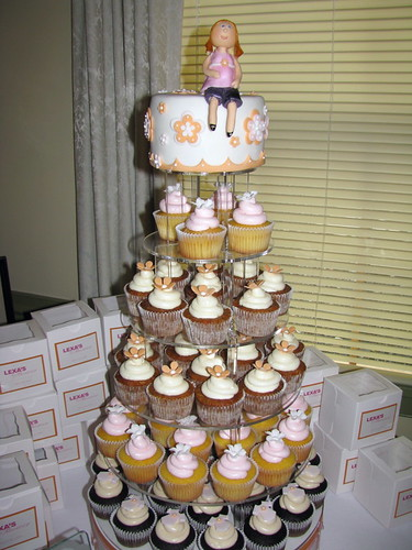 Lexa's Baby Shower Cupcake Tower