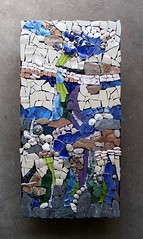 Mosaic Challenge: Something natural - WIP (stiglice - Judit) Tags: abstract mosaic wallart minerals ilanashafir mosaicchallenge