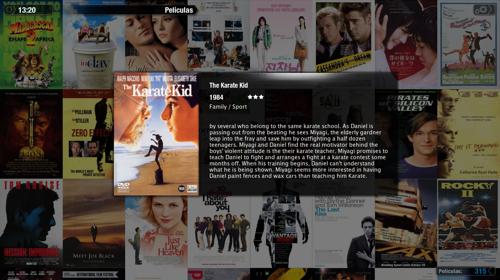 Captura de Plex en Mac OS X a punto de ver Karate Kid