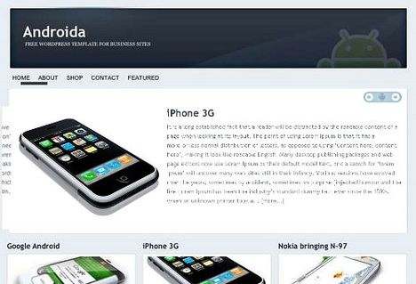 Androida Free WordPress Theme