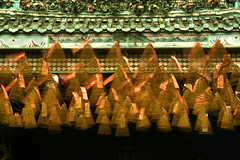 dancing coils (Farl) Tags: longexposure travel red colors temple pagoda chinatown shadows buddhist buddhism vietnam saigon incense coils hochiminh cholon bluelist ong chua