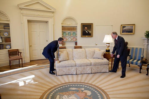 obama moves a couch
