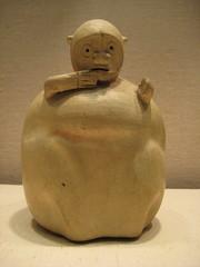 Very Surprised Looking Monkey Bottle (unforth) Tags: newyorkcity newyork art museum ceramics bottles manhattan pottery artmuseum metropolitanmuseumofart peruvian decorativeart nativeamericanart southamerican 2ndcenturybc 1stcentury 1stcenturybc topara