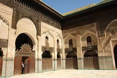 Peek (Qiche) Tags: africa travel school people man college person arch madrasah muslim islam culture mosque morocco fez medina madrassa moroccan fes tilework zellij feselbali medersabouinania theologial