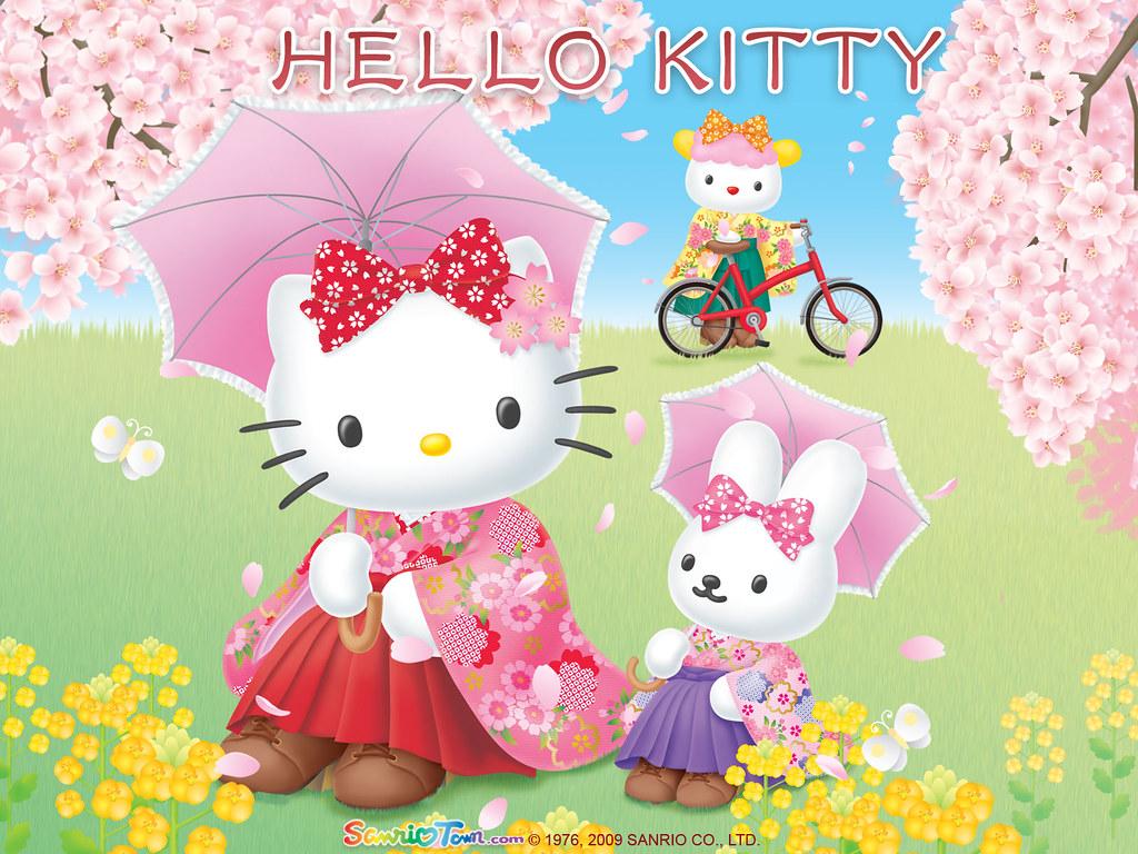 Hello Kitty Tags Pink Wallpaper Hk Color Art Illustration