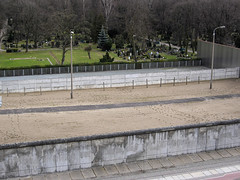 Berlin Wall with watch zone intact
