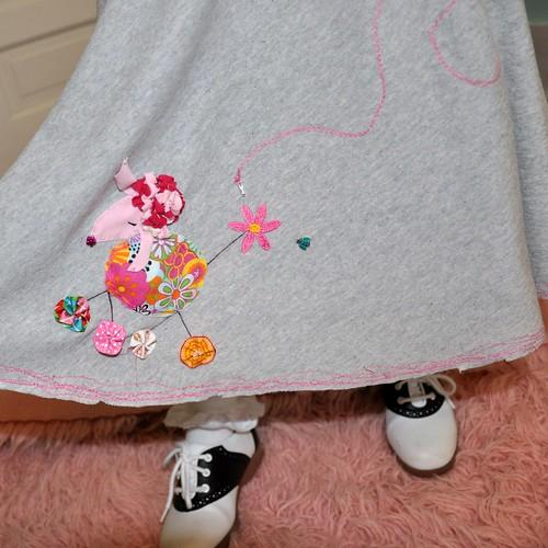 Poodle skirt detail