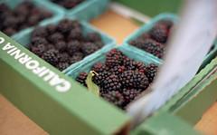 blackberries (dogwelder) Tags: california food plants film fruit blackberry purple farmersmarket box may zurbulon6 2009 blackberries studiocity 50mmprimelens olympusom4ti zurbulon