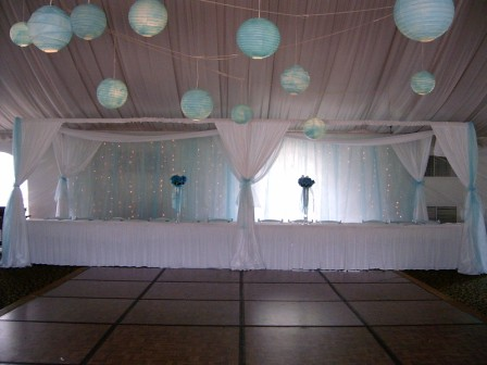 Wedding Headtable canopy