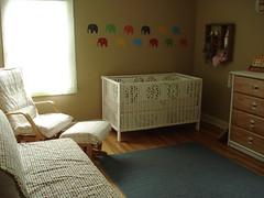 Nursery (stupid clever) Tags: dwellstudiocircles hutchemeetsycom orlakielyfabric ikeagullivercrib