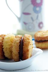 Coconut ,dulce de leche, sandwiches (BAs cooking) Tags: cookies coconut sandwiches baked dulcedeleche