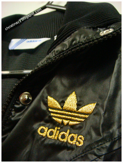 Adidas Black & Metal Gold Jacket