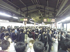 Crowded Shinjuku station