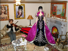living room Barbie diorama (Gipaba) Tags: kurt barbie diorama dollhouse bobmackie glriafurniture brunettebrilliance gipaba