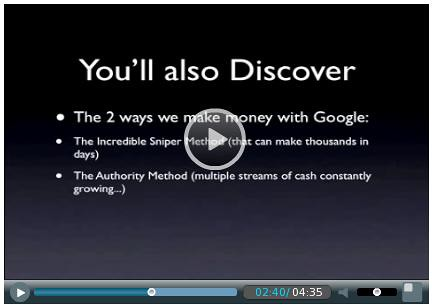 Google Conquest Authority 2 ways to make money by review4bonus