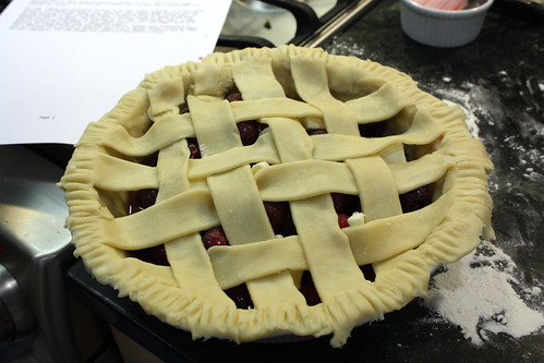 Cherry Pie ready for oven