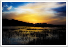 Sunset at Kalar kahar lake