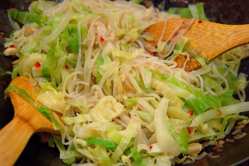 Cabbage and Rice Noodle Salad